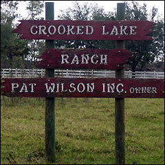 Crooked Lake Ranch sign
