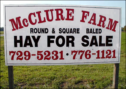 McClure Farm sign