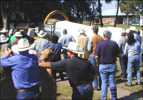 Hay Wrapping Demonstration